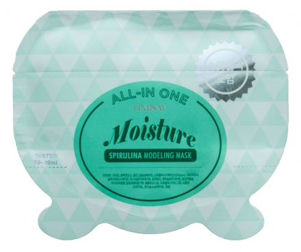 Альгинатная маска со спирулиной LINDSAY Moisture spirulina all-in one modeling mask 26 г.: фото