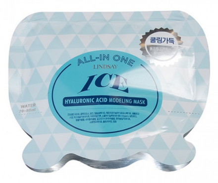 Альгинатная маска с гиалуроновой кислотой Lindsay Ice Hyaluronic All-in One Modeling Mask 26г: фото