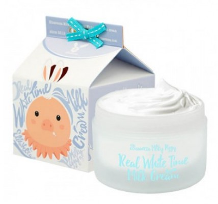 Крем осветляющий с козьим молоком ELIZAVECCA Real white time milk cream 100 мл: фото