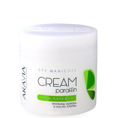 Крем-парафин Натуральный с молочными протеинами и маслом хлопка Aravia professional 300 мл: фото