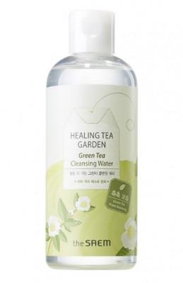 Вода очищающая увлажняющая с экстрактом зеленого чая THE SAEM Healing Tea Garden Green Tea Cleansing Water 300мл: фото