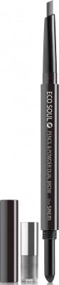 Карандаш-пудра для бровей THE SAEM Eco Soul Pencil & Powder Dual Brow 03 black gray 0,5г*0,3г: фото