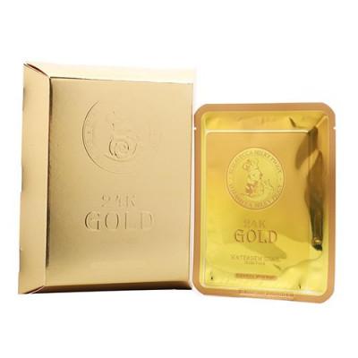 Маска для лица улиточная Elizavecca 24k Gold Water Dual Snail mask pack 25г: фото