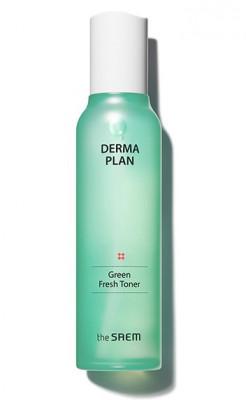 Тонер для лица освежающий THE SAEM Derma Plan Green Fresh Toner 155мл: фото
