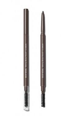 Карандаш для бровей Eco Soul Skinny Brow Pencil 03 Dark Brown: фото
