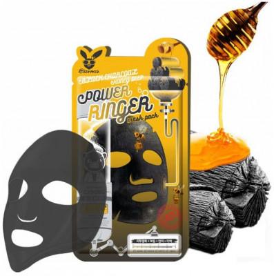 Маска тканевая с древесным углем и медом Elizavecca Black Charcoal Honey Deep Power Ringer Mask: фото