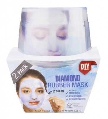 Альгинатная маска с алмазной пудрой (пудра+активатор) Lindsay Diamond Rubber Mask (65г+6,5г)*2: фото