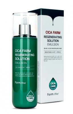 Эмульсия для лица восстанавливающая с центеллой азиатской FarmStay Cica Farm Regenerating Solution Emulsion 200 мл: фото
