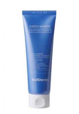 Увлажняющая пенка с морской водой WELLDERMA Earth Marine Moist Foam Cleanser 120 мл: фото
