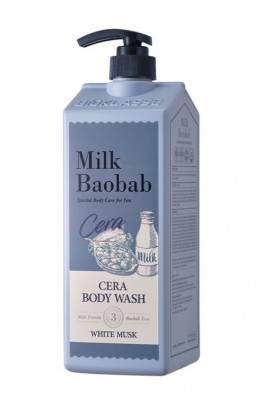 Гель для душа с керамидами, с ароматом белого мускуса MILK BAOBAB Cera Body Wash White Musk 1200 мл: фото