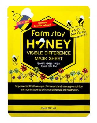 Маска с экстрактом мёда FarmStay Visible Difference Mask Sheet Honey 23мл: фото