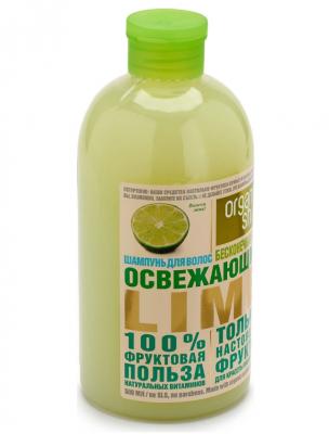 """Шампунь Organic Shop Фрукты """"Освежающий lime"""" 500мл: фото"""