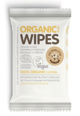 Салфетки влажные, для интимной гигиены Organic Shop Organic Wipes 20шт: фото